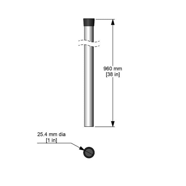 CaframoStand Rod 38 in. (965 mm) x 1 in.  (25 mm) Length: 38 in.:Hotplates