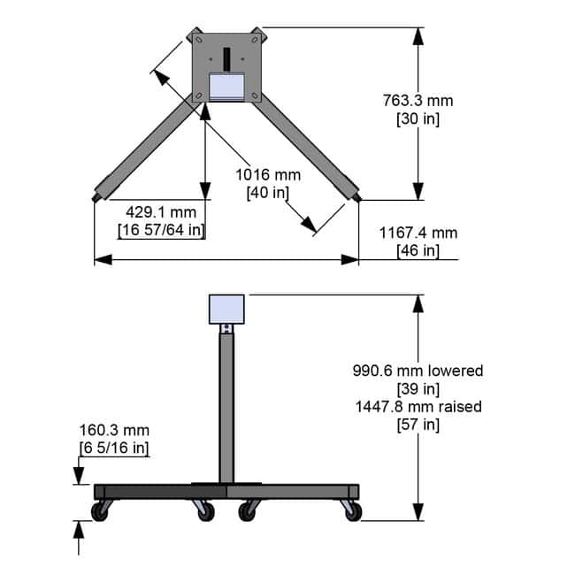 Caframo Model A118 Manual Heavy Duty Stand with Casters With Casters
