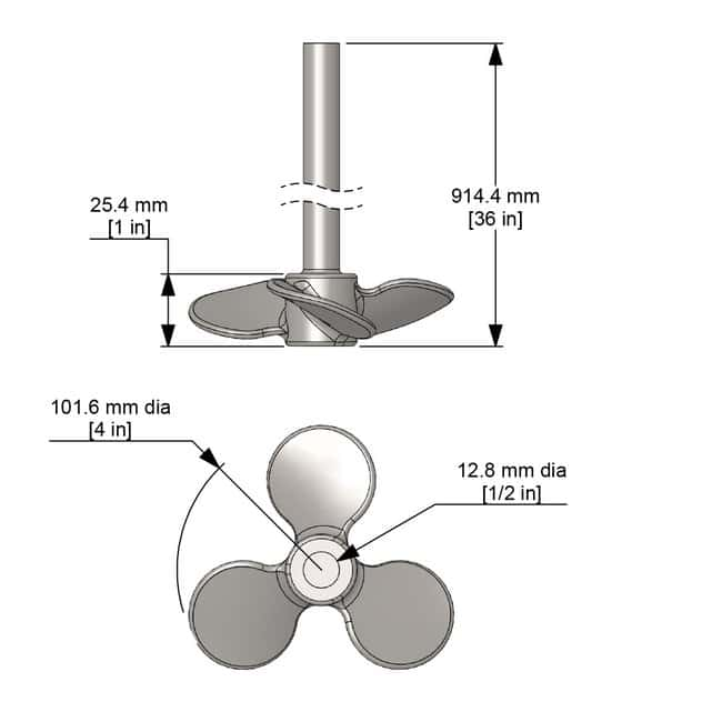 Caframo Propeller and Shaft Propeller and Shaft