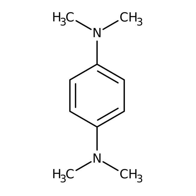 N,N,N',N'-Tetramethyl-p-phenylenediamine, 98%, ACROS Organics™ 100g; Glass bottle N,N,N',N'-Tetramethyl-p-phenylenediamine, 98%, ACROS Organics™