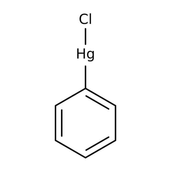 Alfa Aesar™Phenylquecksilber(II)-chlorid, 96%, Hg 63.5% 50g Alfa Aesar™Phenylquecksilber(II)-chlorid, 96%, Hg 63.5%