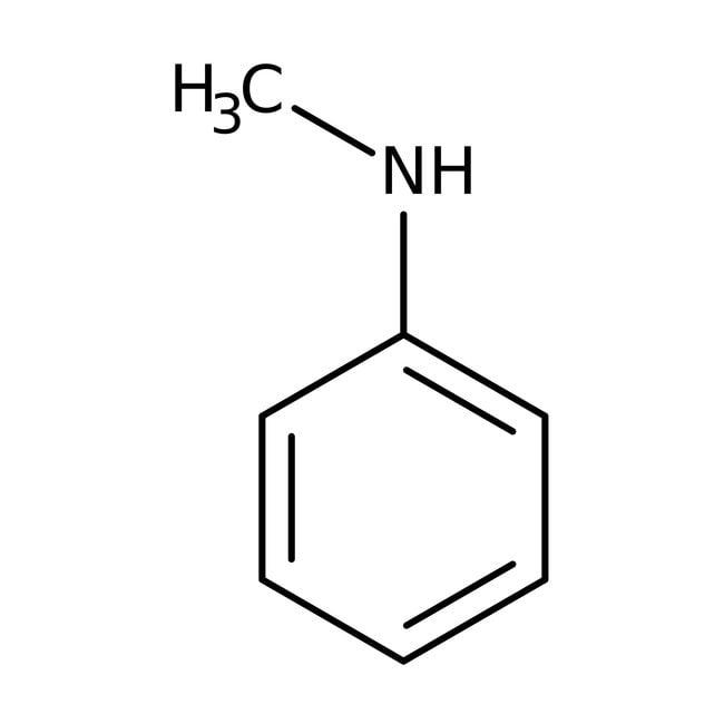 N-Metilanilina, 99+%, ACROS Organics™ 2,5 kg; frasco de vidrio N-Metilanilina, 99+%, ACROS Organics™