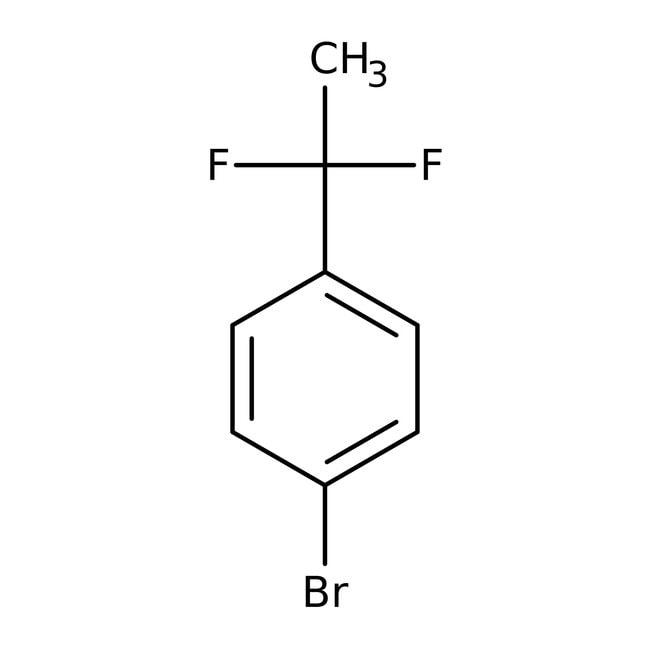 1-Bromo-4-(1,1-difluoroethyl)benzene, 95%, ACROS Organics™ 5g; Glass bottle 1-Bromo-4-(1,1-difluoroethyl)benzene, 95%, ACROS Organics™