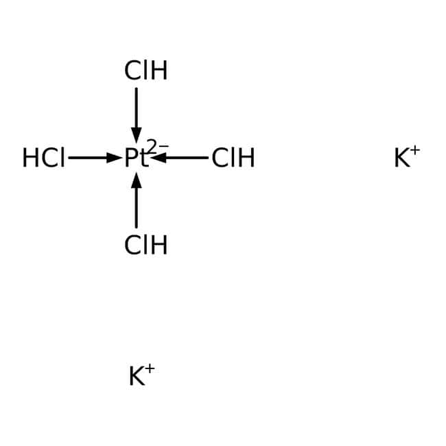 Potassium tetrachloroplatinate(II), 99.9% (metals basis), Pt 46.0% min., Alfa Aesar™ 5g Potassium tetrachloroplatinate(II), 99.9% (metals basis), Pt 46.0% min., Alfa Aesar™