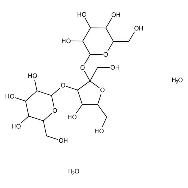 D(+)-Melezitose monohydrate, 99+%, ACROS Organics™ Glass bottle; 5g D(+)-Melezitose monohydrate, 99+%, ACROS Organics™