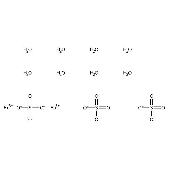 Alfa Aesar™Europium(III) sulfate octahydrate, 99.9% (REO) 10g Alfa Aesar™Europium(III) sulfate octahydrate, 99.9% (REO)