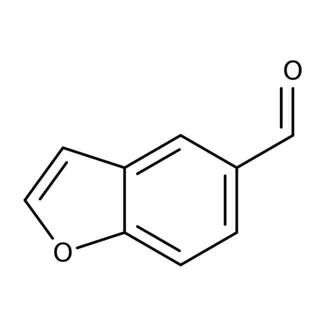 1-Benzofuran-5-carbaldehyde, 97%, Maybridge™ Amber Glass Bottle; 5g 1-Benzofuran-5-carbaldehyde, 97%, Maybridge™
