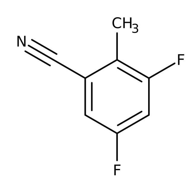 Alfa Aesar™3,5-Difluoro-2-methylbenzonitrile, 97% 250mg Alfa Aesar™3,5-Difluoro-2-methylbenzonitrile, 97%