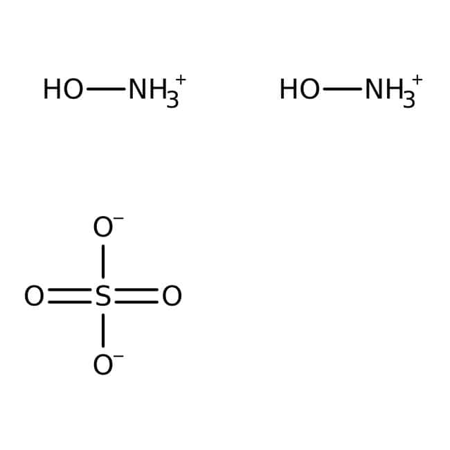 Sulfate d'hydroxylamine, 99%, Aesar d'Alfa™ 2kg Sulfate d'hydroxylamine, 99%, Aesar d'Alfa™