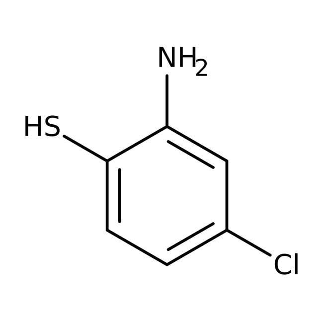2-Amino-4-chlorothiophenol, 96%, Acros Organics 25g, Glass bottle 2-Amino-4-chlorothiophenol, 96%, Acros Organics