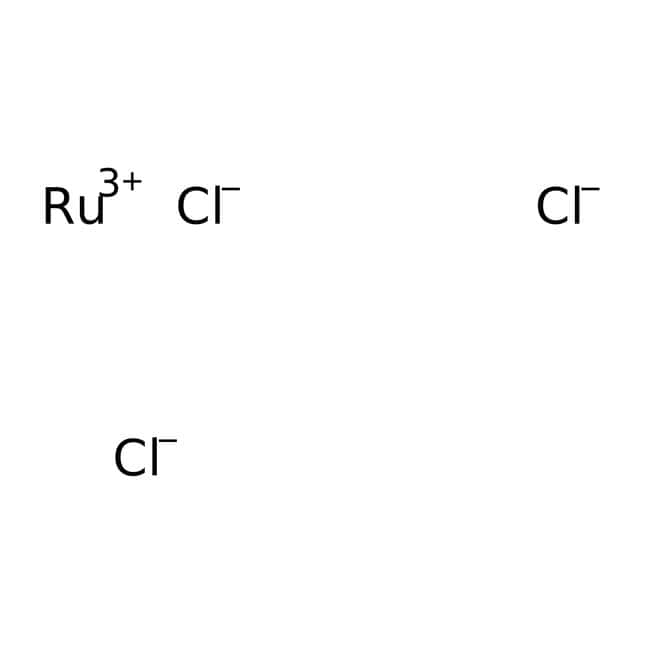 Ruthenium(III) chloride, 99.9%, (trace metal basis), anhydrous, ACROS Organics