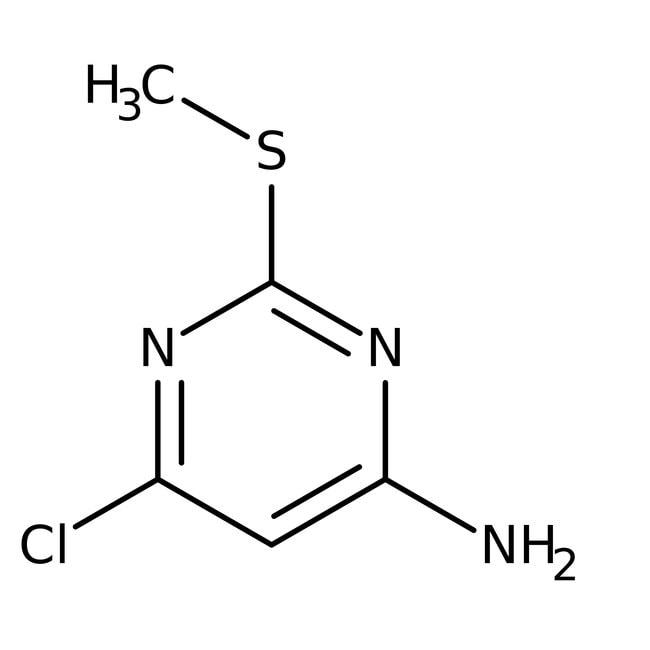 4-Amino-6-chloro-2-methylmercaptopyrimidine, 97%, ACROS Organics™ 5g; Glass bottle 4-Amino-6-chloro-2-methylmercaptopyrimidine, 97%, ACROS Organics™