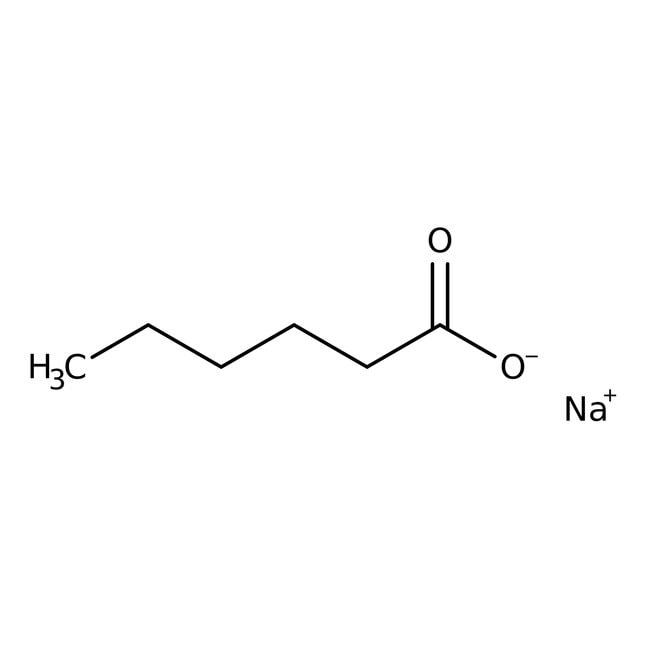 Sodium hexanoate, 99%, ACROS Organics™ 25g Sodium hexanoate, 99%, ACROS Organics™