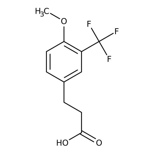 3-[4-Methoxy-3-(Trifluormethyl)phenyl]propionsäure, 97 %, Alfa Aesar™ 1g 3-[4-Methoxy-3-(Trifluormethyl)phenyl]propionsäure, 97 %, Alfa Aesar™