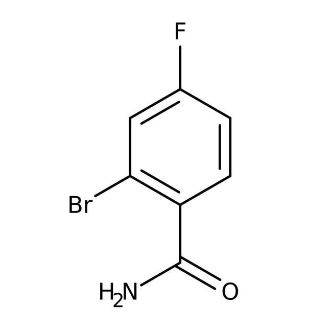 Alfa Aesar™2-Bromo-4-fluorobenzamide, 96% 5g Alfa Aesar™2-Bromo-4-fluorobenzamide, 96%