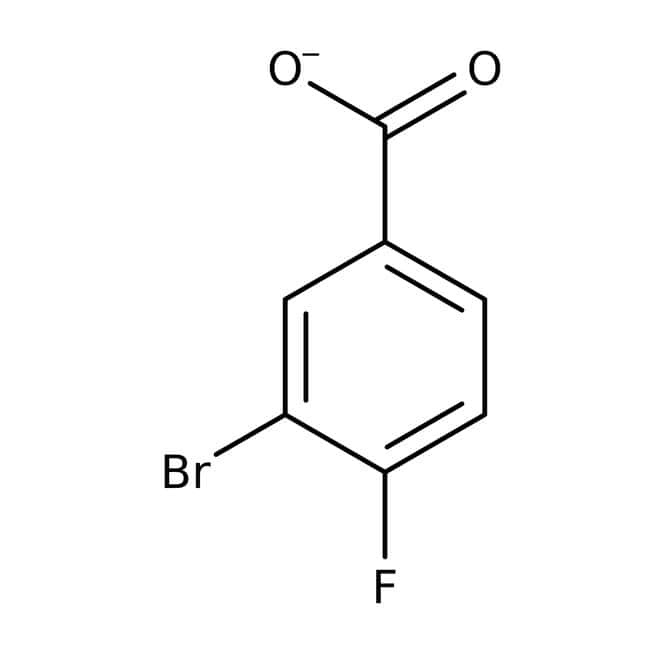 3-Bromo-4-fluorobenzoic acid, 98%, ACROS Organics™ 1g; Glass bottle 3-Bromo-4-fluorobenzoic acid, 98%, ACROS Organics™