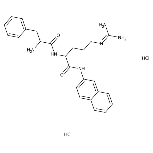 Phe-Arg-β-naphthylamide dihydrochloride, >99%, For TLC analysis, 85.4%, MP Biomedicals™: Peptides Amino acids, peptides, and analogues