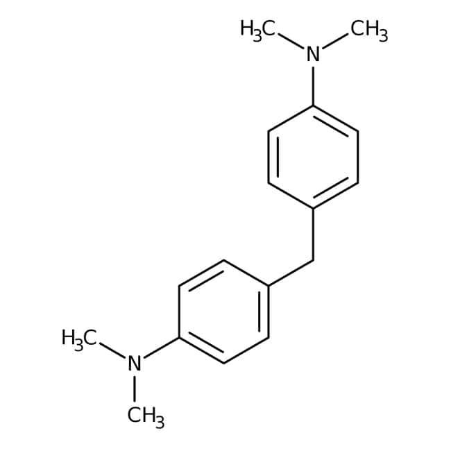 4,4'-Methylenebis(N,N-dimethylaniline), 98%, ACROS Organics™ Glass bottle; 5g 4,4'-Methylenebis(N,N-dimethylaniline), 98%, ACROS Organics™