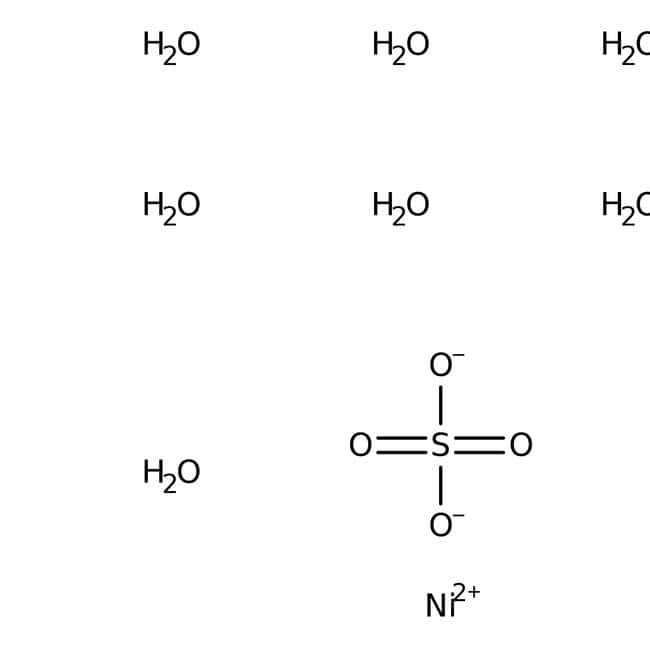 Nickel(II) sulfate heptahydrate, for analysis, for nickel plating, DIN 50970, ACROS Organics™