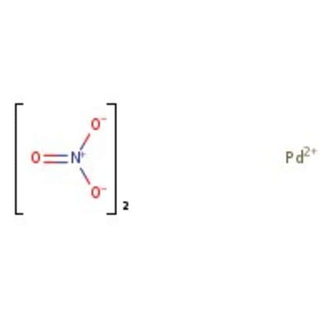 Alfa Aesar™Nitrate de palladium(II), solution, Pd 4-5% p/p (cont. Pd) 25g voir les résultats