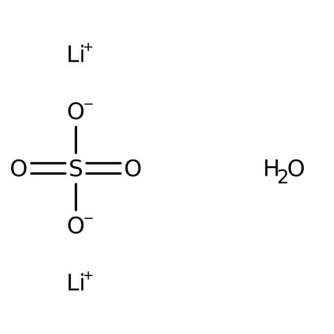 Lithium sulfate monohydrate, ACS, 99.0% min, Alfa Aesar™ 100g Lithium sulfate monohydrate, ACS, 99.0% min, Alfa Aesar™