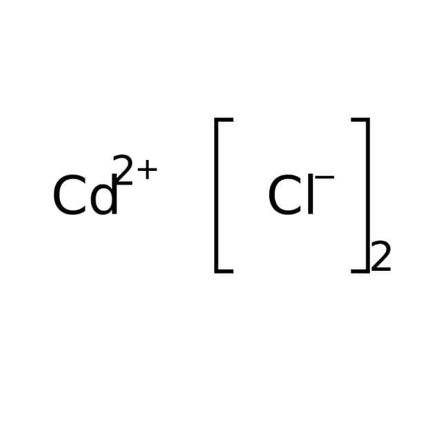 Cloruro de cadmio, 99%, para análisis, anhidro, ACROS Organics™ 100g; frasco de vidrio Cloruro de cadmio, 99%, para análisis, anhidro, ACROS Organics™