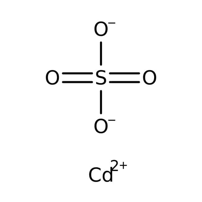 Cadmium sulfate, ACS reagent, anhydrous, Acros Organics 100g, Glass bottle Cadmium sulfate, ACS reagent, anhydrous, Acros Organics