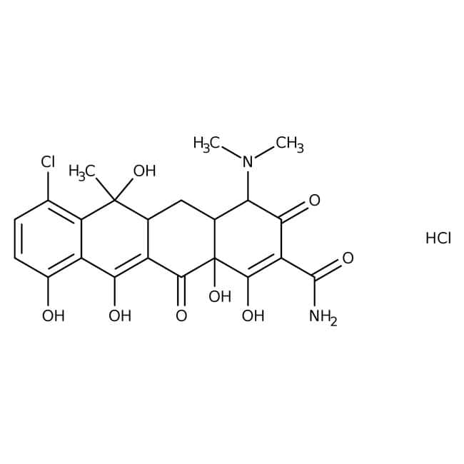4-Epichlortetracycline hydrochloride, can be used as secondary standard, ACROS Organics™