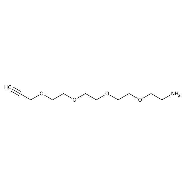 Alfa Aesar™1-Amino-3,6,9,12-tetraoxapentadec-14-yn 100mg Alfa Aesar™1-Amino-3,6,9,12-tetraoxapentadec-14-yn