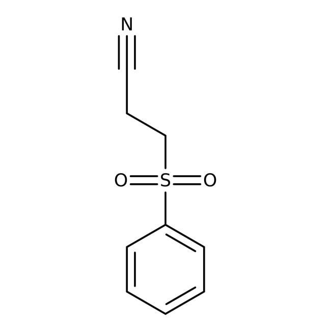 Alfa Aesar™3-(Phenylsulfonyl)propionitrile, 99% 25g Alfa Aesar™3-(Phenylsulfonyl)propionitrile, 99%