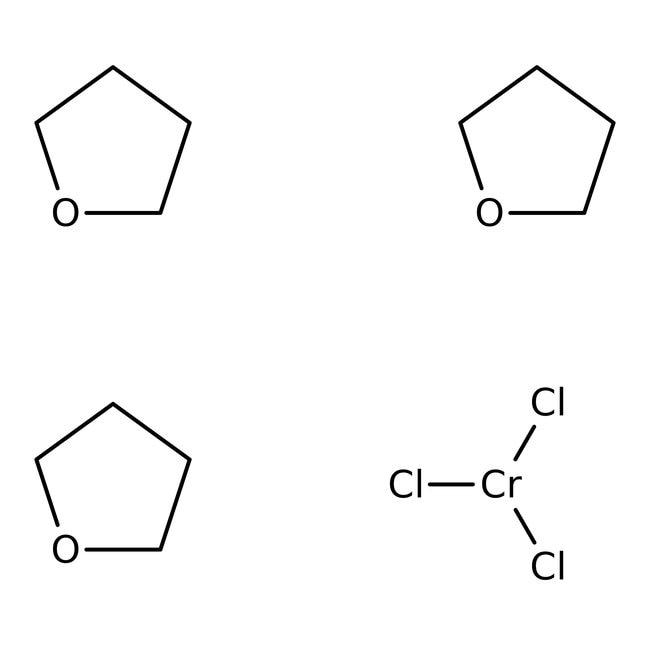 Chromium(III) chloride tetrahydrofuran complex (1:3), 98%, ACROS Organics™ 10g; Glass bottle Chromium(III) chloride tetrahydrofuran complex (1:3), 98%, ACROS Organics™
