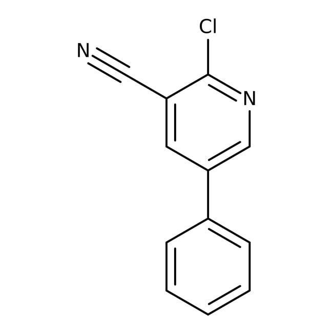 Alfa Aesar™2-Chloro-3-cyano-5-phenylpyridine, 98% 250mg Alfa Aesar™2-Chloro-3-cyano-5-phenylpyridine, 98%