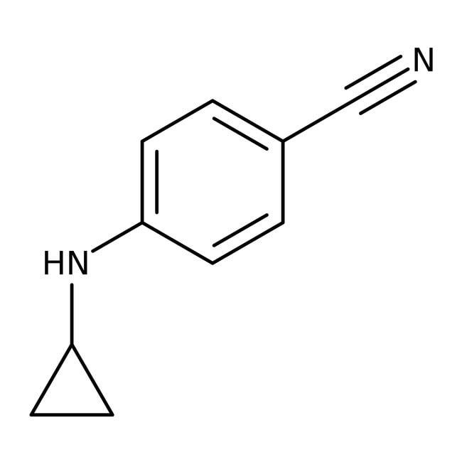 Alfa Aesar™4-(Cyclopropylamino)benzonitrile, 98% 250mg Alfa Aesar™4-(Cyclopropylamino)benzonitrile, 98%