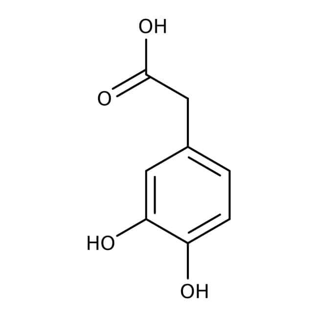 3,4-Dihydroxyphenylacetic acid, 98%, ACROS Organics™ 25g; Glass bottle 3,4-Dihydroxyphenylacetic acid, 98%, ACROS Organics™