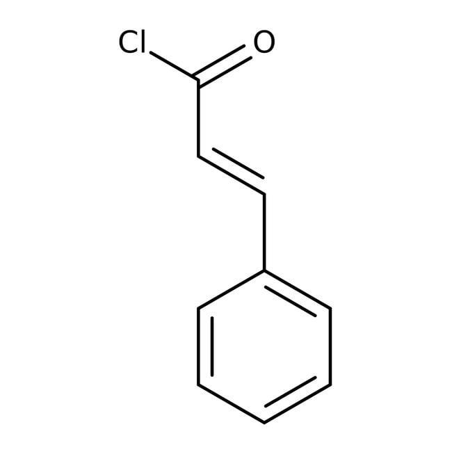 Cinnamoyl chloride, 98%, predominantly trans, ACROS Organics™ 5g; Glass bottle Cinnamoyl chloride, 98%, predominantly trans, ACROS Organics™