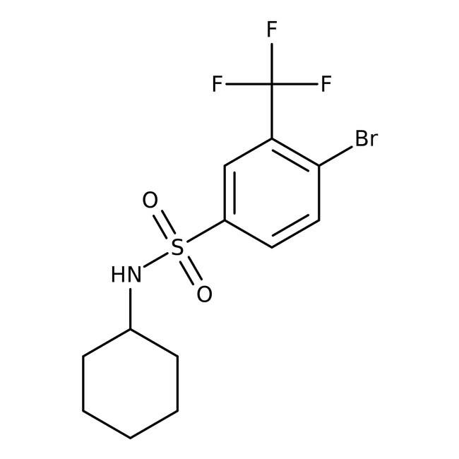 Alfa Aesar™4-Bromo-N-cyclohexyl-3-(trifluoromethyl)benzenesulfonamide, 97% 5g Alfa Aesar™4-Bromo-N-cyclohexyl-3-(trifluoromethyl)benzenesulfonamide, 97%