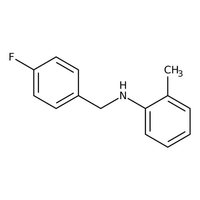 Alfa Aesar™ N-(4-Fluorobenzyl)-2-Methylanilin, 97 % 250 mg Alfa Aesar™ N-(4-Fluorobenzyl)-2-Methylanilin, 97 %