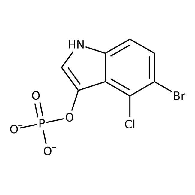 5-Bromo-4-chloro-3-indolyl phosphate, disodium salt, hydrate, 98%, ACROS Organics™