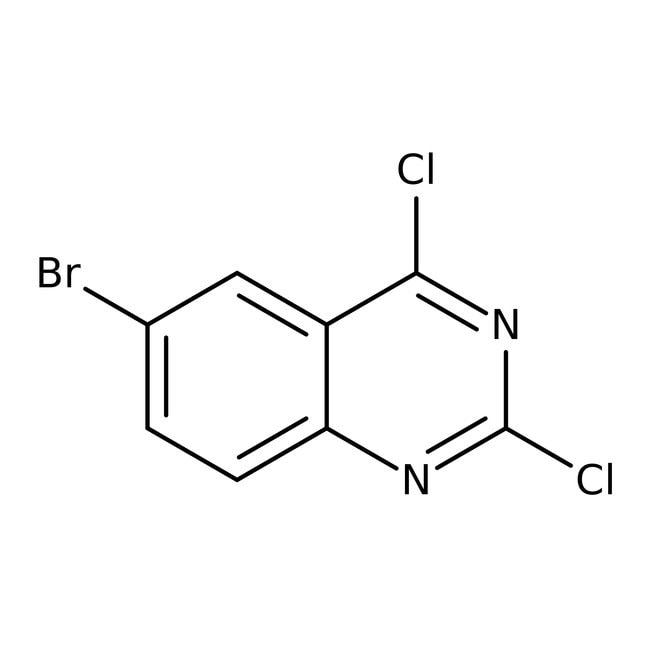 Alfa Aesar™6-Bromo-2,4-dichloroquinazoline, 97%: Aryl halides Organohalogen compounds
