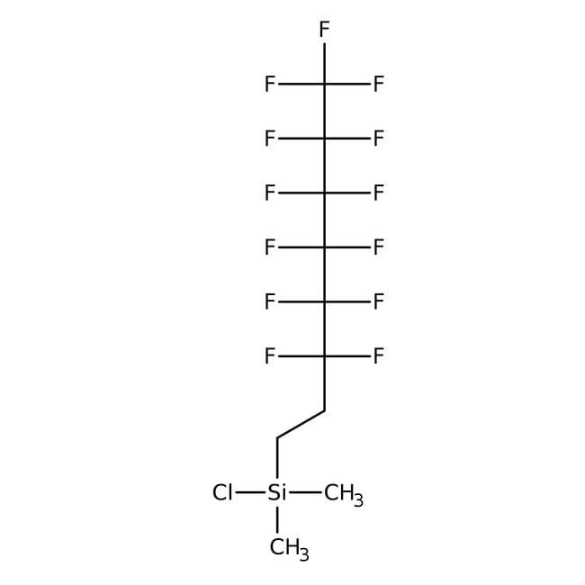 Alfa Aesar™1H,1H,2H,2H-Perfluorooctyldimethylchlorosilane, 95%: Otros compuestos inorgánicos Productos quimicos