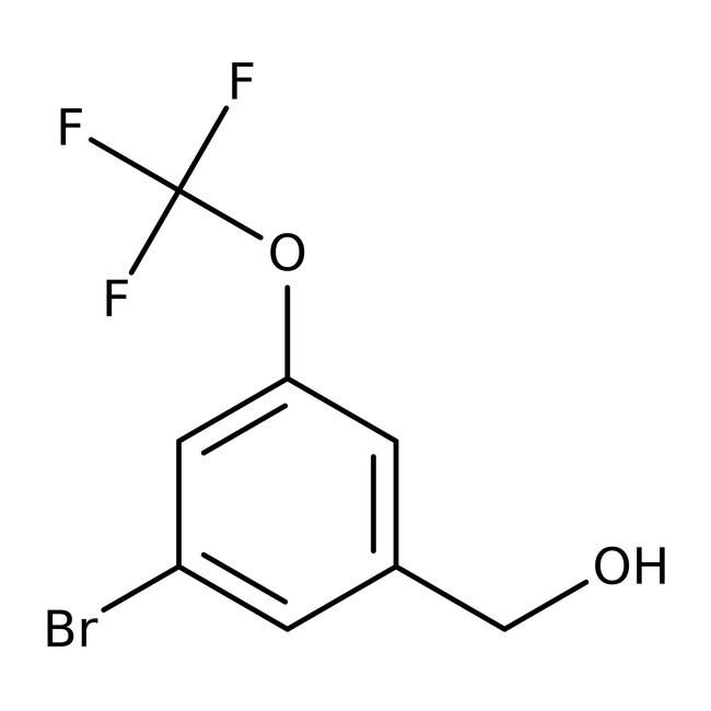 Alfa Aesar™Alcool 3-bromo-5-(trifluorométhoxy)benzylique, 97% 5g Alfa Aesar™Alcool 3-bromo-5-(trifluorométhoxy)benzylique, 97%