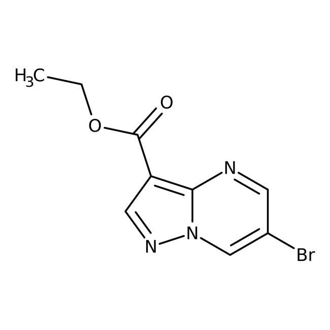 Ethyl 6-bromopyrazolo[1,5-a]pyrimidine-3-carboxylate, 98%, Alfa Aesar™ 1g Ethyl 6-bromopyrazolo[1,5-a]pyrimidine-3-carboxylate, 98%, Alfa Aesar™