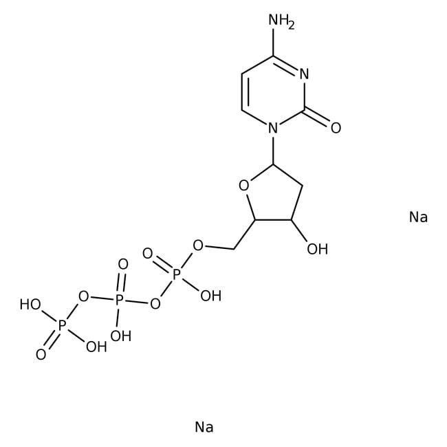 Alfa Aesar™2'-Deoxycytidine-5'-triphosphate disodium salt 25mg Alfa Aesar™2'-Deoxycytidine-5'-triphosphate disodium salt