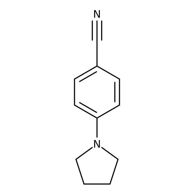 4-(1-Pyrrolidinyl)benzonitrile, ≥90%, Maybridge™ Amber Glass Bottle; 10g 4-(1-Pyrrolidinyl)benzonitrile, ≥90%, Maybridge™