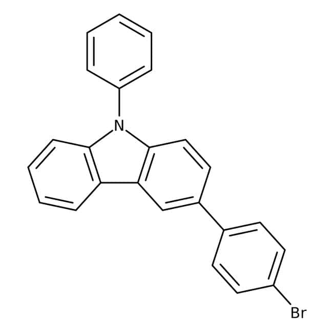 Alfa Aesar™3-(4-Bromophenyl)-9-phenylcarbazole, 98% 1g Alfa Aesar™3-(4-Bromophenyl)-9-phenylcarbazole, 98%