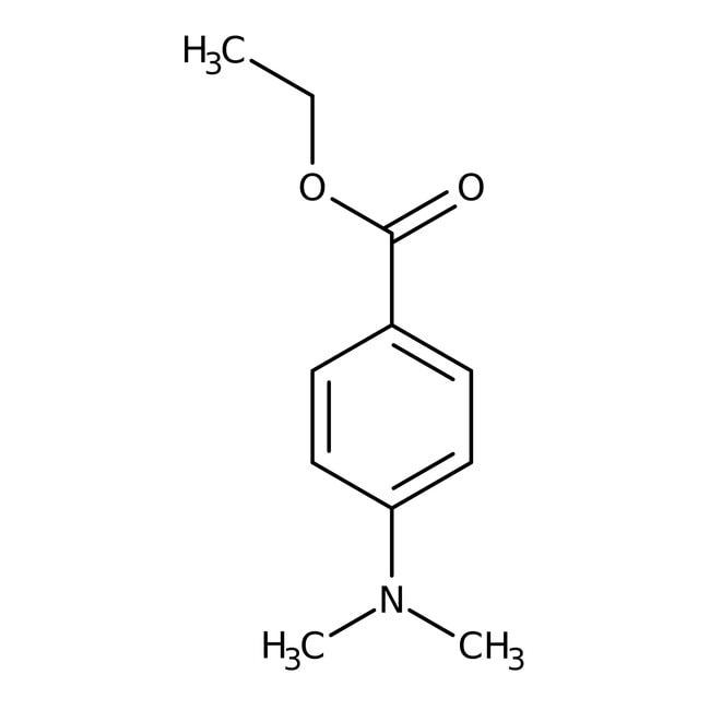 Ethyl 4-dimethylaminobenzoate, 99+%, Acros Organics 100g; Plastic bottle Ethyl 4-dimethylaminobenzoate, 99+%, Acros Organics