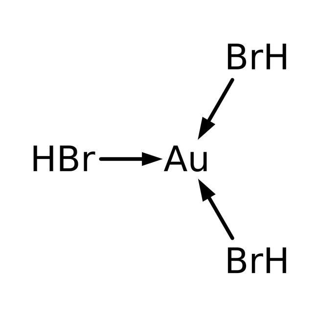 Alfa Aesar™Gold(III)-bromid, Premion™, 99.99% (Metallbasis), Au 44.6% min. 1g Alfa Aesar™Gold(III)-bromid, Premion™, 99.99% (Metallbasis), Au 44.6% min.
