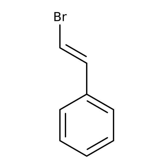 β-Bromostyrene, 97%, mixture of cis/trans isomers, ACROS Organics™: Benzene and substituted derivatives Benzenoids