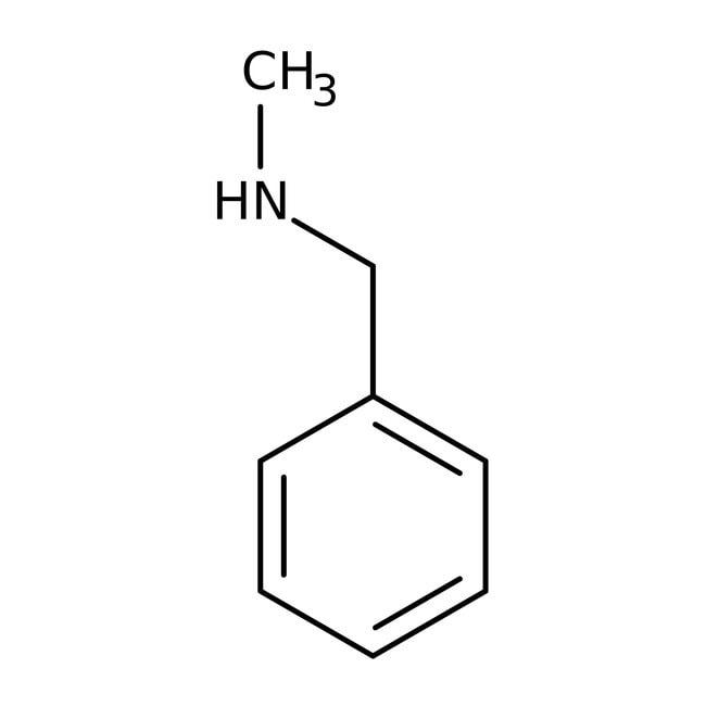 N-Methylbenzylamine, 97%, ACROS Organics™ 500mL; Glass bottle N-Methylbenzylamine, 97%, ACROS Organics™