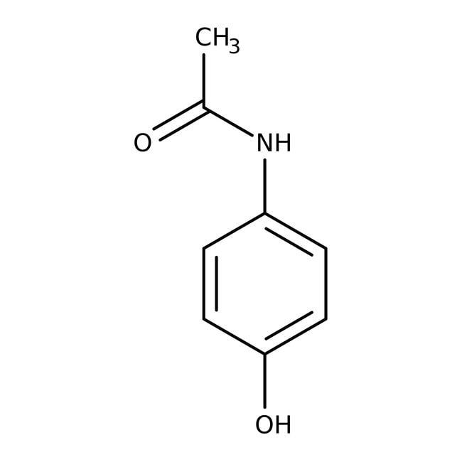 4-acétamidophénol, 98%, ACROS Organics™ 5kg; bouteille en plastique 4-acétamidophénol, 98%, ACROS Organics™